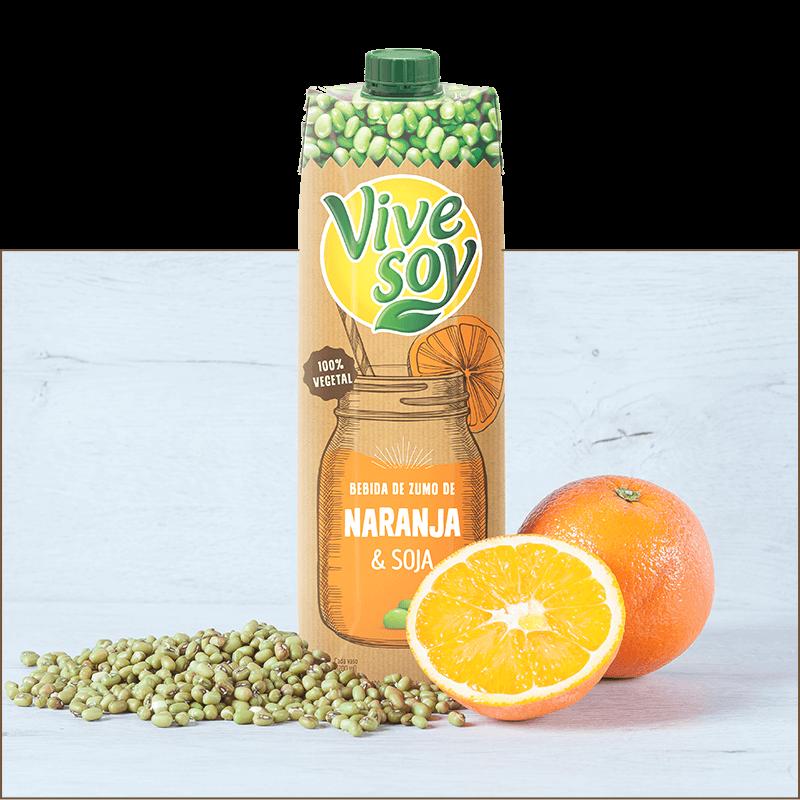 Vivesoy Bebida de Zumo de Naranja y Soja